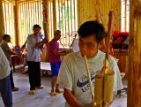2838 Lusheng players for dedication of new drum tower.