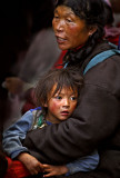Mother and Child. Lhasa Tibet. 2006