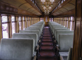 The interior of a Boston and Maine coach