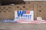 Protestors Creating Signs in Preperation for Nov 6th Rally in Dallas