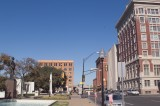View Up Houston Of the Texas School Book Depository on the left