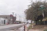 Davis Street just outside the Elsbeth Apartments Doorway