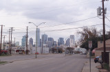 View of Downtown Dallas from Zang and Beckley area.