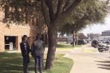 Part of the Dallas Police Motorcycle Escort