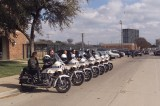 Dallas Police Motorcylce Escort for the Hunt Family