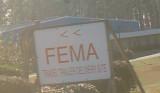 Close up of FEMA sign