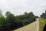 Looking South on the highway towards the ambush location