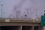 Fire East of Location about 3/4 mile-this was on the Houston St Viaduct