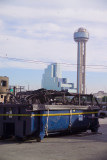 Ground Zero-Renunion Tower is aprox 3/8ths of a mile across I-35-debri was found in their parking lot