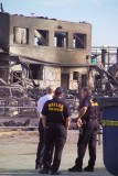 Dallas Fire Dept looking over the scene for hot spots