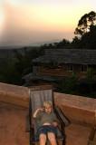Son enjoying the sunset