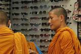Buddhists watching sunglasses