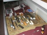 Medical instruments from days gone by at the Army training facility at Ft. Sam.