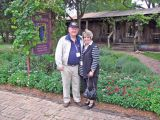 Dave and Joan Jordan caught under the mistletoe.