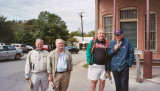 Don Coppock, William Hardey, Bill Chilcoat and Tour Guide Bill Merriman at Gruene