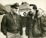 Lt Colonel Clark Althaus, Squadron Commander and Lt Bill Rickenbacker