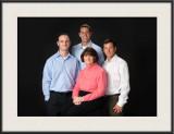 James, Ben, & Matt with the full family