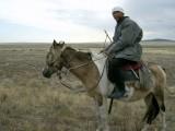 The Kazakh shepherd himself.  Nice guy, keen to chat