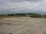 Somewhere beneath those mountains is Almaty
