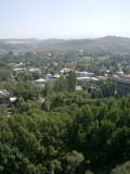 View south from room in Hotel Kazakhstan, Kok-Tobe hill on right