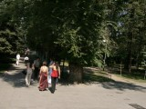 Bridal group in Panfilov Park, Almaty