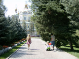 View of Zenkov Cathedral, Panfilov Park