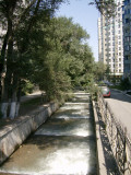 One of the little 'rivers' that run down through Almaty