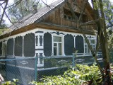Old style wooden house, behind Dostyk Avenue