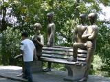 Beatles tribute bench on Kok-Tobe hill