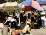 Street market east of Alamty
