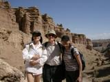 A Kazakhstani lawyer, myself and a Kazakhstani teacher