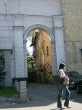 View through an Almaty gateway that somehow appealed