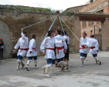 Typical Basque folkloric dance in Viana