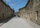 Stone houses, Calle Mayor in Hornillos del Camino