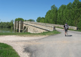 The medieval bridge over the Pisuerga River
