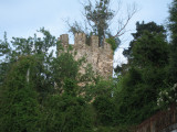 Tower of the ruined castle in Sarria