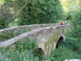 Romanic bridge Ponte Aspera built in XIII c