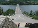 Looking back at the long bridge