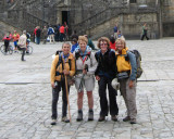 Hortensia, Marisa, Maggie and me, after completing the 800 km walk!!
