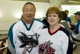 Here we are at the Sharks verses Blue Jackets game  3/16/2007