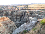 badlands crevices and cliffs