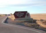 entering badlands national park