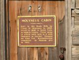 Molyneux Cabin plaque