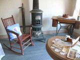a seat by the fireplace