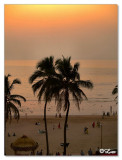 Sunset view from our room-Sun n Sand Juhu