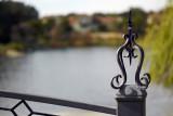 On a footbridge