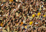 The Georgia Tech Yellow Jacket student section cheers the team on