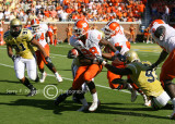 Clemson RB C.J. Spiller is brought down by the Georgia Tech defense
