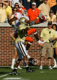 …but the reception is denied by GT CB Word-Daniels