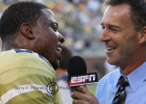 With the victory in hand Tech RB Tashard Choice talks with ESPN
